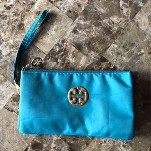 Handbags - Cute green wristlet with gold trim